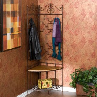 Traditional Entry Storage Bench Wall Mirror Coat Hook