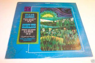 The Claremont Quartet Sibelius Elgar String Quartet LP