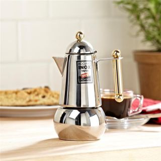Itaca 2 Cup Stainless Steel Stovetop Espresso Coffee Maker