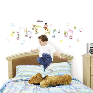 Music Kids Boys Girls Wall Stickers Home Decor Decals