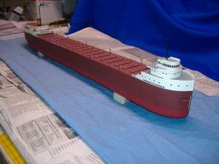 Edmund Fitzgerald Handcrafted Wooden Models