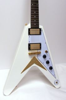 Epiphone Korina 1958 Flying V Ltd Ed Arctic White Electric Guitar