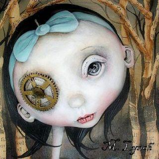 Pop Surrealism Original Painting Clarissa Skunk Michele Lynch