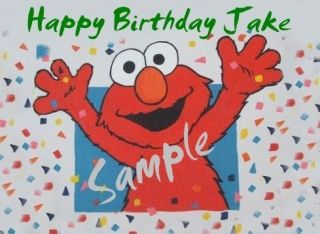 Elmo 4 Edible Birthday Cake Topper 1 4 Sheet