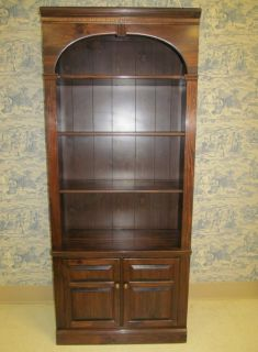 Ethan Allen Antiqued Old Tavern Pine Bookcase Library Wall Unit 9014