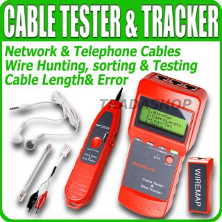 Network Cable Tester Tracker Length Scan RJ45 STP UTP LAN Coaxial