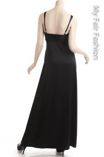 BCBG Max Azria Black Beaded Sateen Gown New Size 0