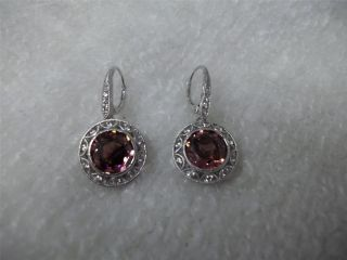 Tacori Diamonique Epiphany Simulated Pink Tourmaline Earrings