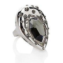 black diamond color crystal burnish ring $ 23 95 $ 49 95