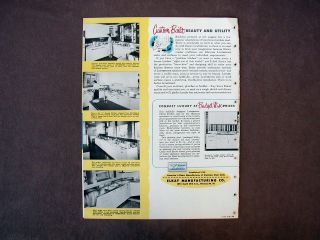 1950 Elkay Lustertone Catalog Stainless Steel Sinks Kitchens Chicago