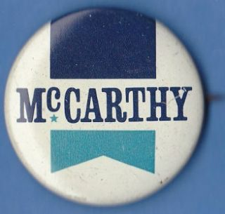 1968 Eugene J McCarthy Presidential Campaign Pin Democratic Party 38mm
