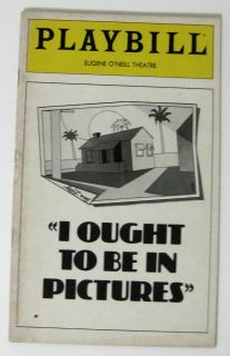 Vintage Playbill Eugene ONeill Theatre I Ought to Be in Pictures