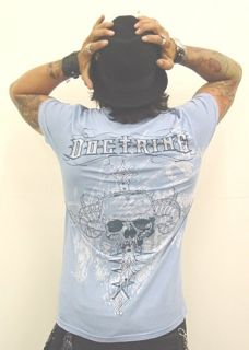 Doctrine Bonez Shirt Skull Cross Dragon Bones Shirt