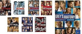 Greys Anatomy DVD SET. SEASONS 1,2,3,4,5,6,7,8. Every Season. Every