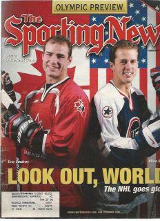 February 9 1998 Sporting News Eric Lindros Mike Modano Nagano Olympics