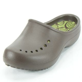 Crocs Womens Tully Clog Espresso Parrot Green Size 4 New
