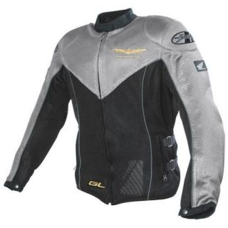 Ladies Joe Rocket Goldwing Mesh Motorcycle Jacket in Grey Size Small