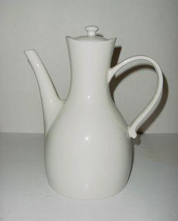 Eva Zeisel for Hall China Eames Era Mid Century Modern White Ceramic