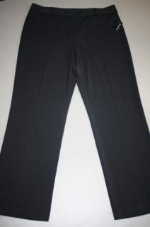 NWT Super Cute Evan Picone Stretch Black Dress Pants Size 16 38/32.5