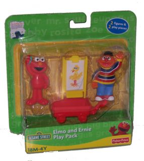 Sesame Street Elmo and Ernie Figure Play Pack Toy Set