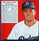 1952 Red Man Tobacco 17 Pee Wee Reese Beooklyn Dodgers HOF PSA 7 5 NM