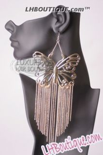 Poparazzi Inspired Basketball Wives Evelyn Lozada Butterfly Earrings
