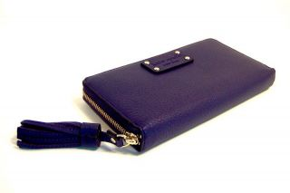 Kate Spade Eggplant Purple Neda Cheltenham Zip Around Wallet $195