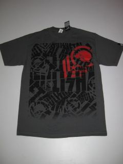 Wrapped Metal Mulisha Grey Shirt Tee Tshirt Military Tattoo Motocross
