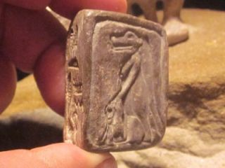 Egyptian statue & amulet of Bes + Taweret talisman.Protective gods of