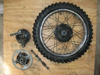 1999 YAMAHA RT100 RT 100 REAR WHEEL RIM AXLE BRAKE HUB USED COND