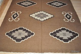10 Wool Handmade Kilim Navajo design hand woven camel, tan