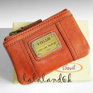 Fossil SL2933 Emory Rose Leather Zip Coin Key Purse Wallet Bag