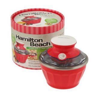 Hamilton Beach Soft Serve Ice Cream Maker Half Pint Cordless Batteries