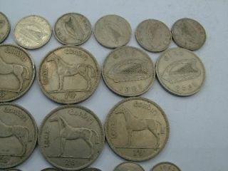 Vintage Eire Ireland Irish Coins 2 5 Shillings Florins Sixpences etc