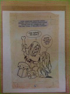 Original art by Will Eisner page 6 from Dating & Hanging Out