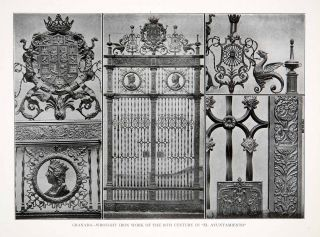Wrought Iron Gate Work Ayuntamiento Granada Spain Decorative Gothic