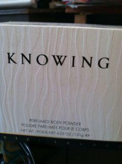 Estee Lauder Knowing Perfumed Body Powder 4 25 Oz