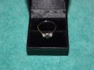 Karat White Gold Alexandrite Diamond Engagement Ring Size 7 5