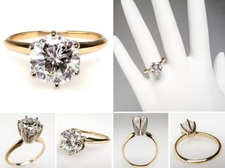 Carat Diamond Solitaire Engagement Ring 14K Gold skucn7923