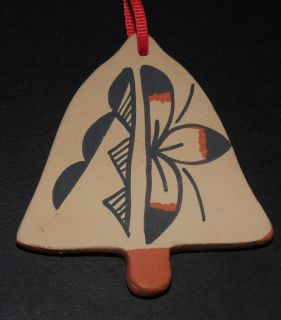 Jemez Pueblo Bell Marie Toya Native American Indian Pottery Ornament