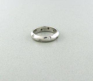 Tiffany Co Platinum Etoile Diamond Band Ring Size 5