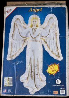 Vintage 93 Empire 33 Angel Lighted Hanging Blow Mold Yard Decor