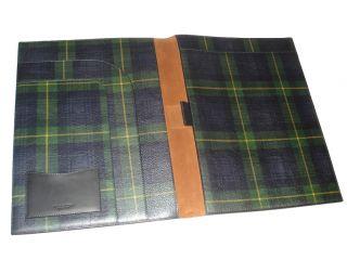 Purple Label Ralph Lauren Plaid Document Folio Case Bag