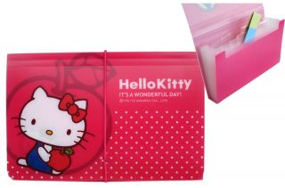Brand New Hello Kitty Expanding File Folder Document Organizer Apple