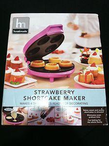 SHORTCAKE MAKER ELECTRIC 4 Mini Cake CAKE BAKER PARTY FAVOR TREATS