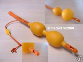 Balloon double rectal tube enema nozzle bulb