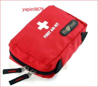 Camping Home Work Medical Emergency Survival First Aid Kit Bag Red