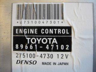 Toyota Prius ECU Engine Control Unit 89661 47102