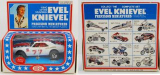 evel knievel 1977 ideal mib die cast super stock car