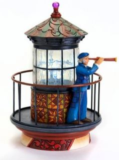 Jim Shore Kepping Watch Lighted Sea Captain Lookout